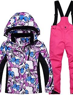 Kinderen Ski-jack & broek Warm waterdicht Winddicht Draagbaar Ademend Skiën Katoen Milieuvriendelijk Polyester