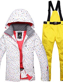 Mulheres Calças & Jaquetas de Esqui Quente Prova-de-Água A Prova de Vento Vestível Respirabilidade Esqui Algodão