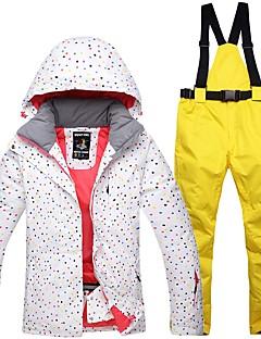 Dames Ski-jack & broek Warm waterdicht Winddicht Draagbaar Ademend Skiën Katoen