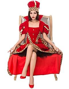 billige Halloweenkostymer-hjerterdronning Cosplay Kostumer Dame Halloween Karneval Oktoberfest Festival / høytid Halloween-kostymer Rød Fargeblokk