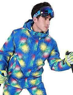 billiga Skid- och snowboardkläder-Phibee Herr Skidjacka Varm, Vattentät, Vindtät Skidåkning Polyester Jacka Skidkläder