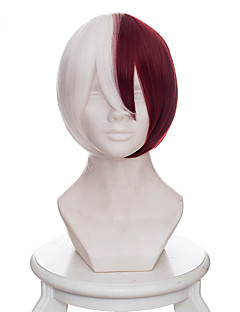 billige Anime cosplay-Cosplay Parykker My Hero Academy Battle For All / Boku no Hero Academia Todoroki Shoto Anime Cosplay-parykker 35 CM Varmeresistent Fiber