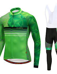 Cycling Jersey with Bib Tights Men's Long Sleeves Bike Bib Tights Tights Pants / Trousers Jersey Top Clothing Suits Quick Dry 3D Pad 90%