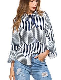 voordelige Damestops-Dames T-shirt Geometrisch Flare mouwen Spandex