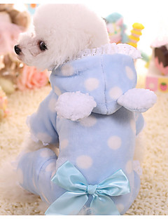 billiga Hundkläder-Hund Jumpsuits Hundkläder Prickig Blå / Rosa Annat material Kostym För husdjur Herr / Dam Ledigt / vardag