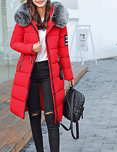 Women's Long Padded Coat,Casual Daily Solid-Cotton Long Sleeve