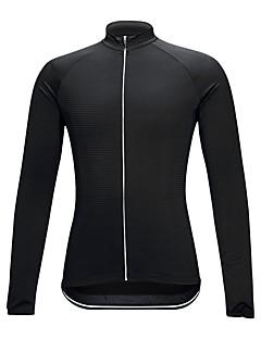 싸이클 져지 남여 공용 긴 소매 자전거 져지 컴프레션 의류 자전거 의류 높은 탄성 솔리드 블랙