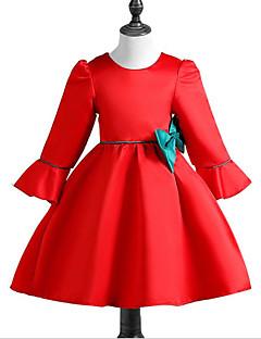 Χαμηλού Κόστους Girls' Party Wear-Κορίτσια Φόρεμα Βαμβάκι Πολυεστέρας Καθημερινά Άνοιξη, Φθινόπωρο, Χειμώνας, Καλοκαίρι 3/4 Μήκος Μανικιού Καθημερινό Πράσινο του