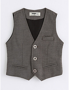 cheap Kids' Clothing-Boys' Solid Vest, Cotton Sleeveless Dark Gray