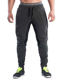 billiga Träning-, jogging- och yogakläder-Herr Snörning / Harem Joggerbyxor - Svart, Grå sporter Byxa Motion & Fitness, Löpning Sportkläder Andningsfunktion, Bekväm Elastisk