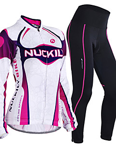 cheap Cycling Jersey & Shorts / Pants Sets-Nuckily Cycling Jersey with Tights Women's Long Sleeves Bike Clothing Suits Fleece Bike Wear Thermal / Warm Windproof Anatomic Design