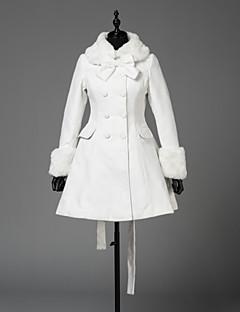 甘ロリータ プリンセス 女性用 女の子 成人 コート コスプレ ホワイト 長袖