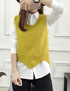 cheap Women's Sweaters-Women's Sleeveless Wool Vest - Solid