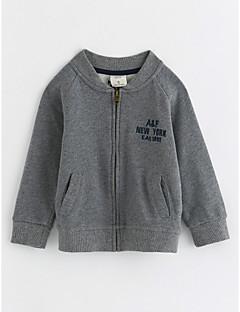 tanie Odzież dla chłopców-Kurtka / płaszcz Bawełna Dla chłopców Długi rękaw Gray