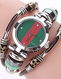 baratos -Mulheres Relógio Casual Relógio de Moda Bracele Relógio Simulado Diamante Relógio Chinês Quartzo imitação de diamante Couro Legitimo Banda