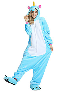 Kigurumi Pajamas Flying Horse Unicorn Onesie Costume Velvet Mink Rose Blue Pink Cosplay For Adults Animal Sleepwear Cartoon