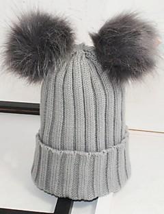 Unisexe Rétro Mignon Soirée Travail Décontracté Tricot Bonnet / Crochet Beret,Solide Automne Hiver Tricoté