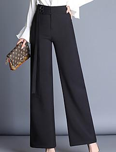 billige Nederdele og bukser til damer-Dame Forretning Bukser Ensfarvet Højtaljede