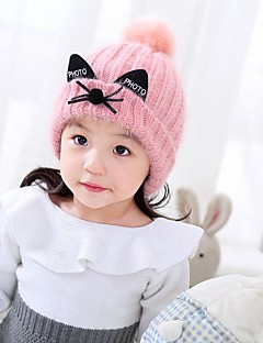 お買い得  子供用アクセサリー-女の子 帽子&キャップ, ニット 冬 ピンク ベージュ