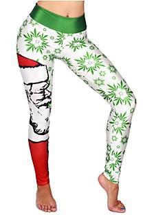 billige julen Kostymer-Nisse drakter Bukser Dame Jul Festival / høytid Halloween-kostymer Hvit Svart Blå Mørkegrønn Rød Mønster