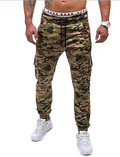 billige Herrebukser og -shorts-Herre Aktiv / Militær Bomull Løstsittende / Aktiv / Chinos Bukser Kamuflasje / Sport / Helg