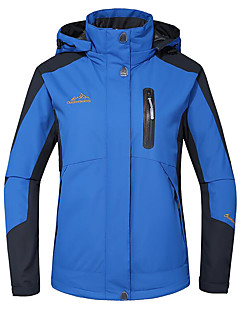 Deshengren® 女性用 スキージャケット アウトドア 冬 防水 保温 防風 絶縁 高通気性 取り外し可能なキャップ リムーバブルフリース ジャケット 冬物ジャケット トップス スキー キャンピング&ハイキング 登山 スノースポーツ