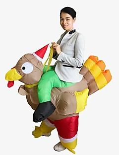 billige julen Kostymer-Ferie Nisse drakter julenissen Oppblåsbart kostyme Herre Dame Jul Karneval Første april Maskerade Valentinsdag Bursdag Oktoberfest Nytt