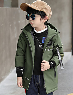 Boys' Solid Geometric Trench Coat Black Camel Army Green