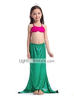 billige Barnekostymer-The Little Mermaid Skjørt Badetøy Barne Halloween Festival / høytid Halloween-kostymer Grønn Havfrue Halloween