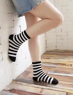 billige Moteundertøy-Dame Sokker-Stripet,Elegant Trykt mønster Varm