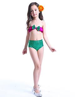 tanie Odzież dla dziewczynek-Dla dziewczynek Wielokolorowa Stroje kąpielowe, Poliester Nylon Clover