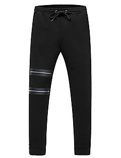 billige Herrebukser og -shorts-Herre Chinos Bukser - Perler, Ensfarget