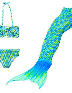 tanie Ships In 24 Hours-Dzieci Dla dziewczynek Śłodkie Plaża Solidne kolory / Kreskówki / Gradient Patchwork Poliester / Nylon Kąpielówki Tęczowy