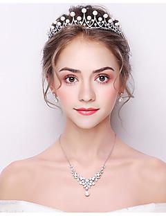 billige Trendy hårsmykker-Dame Grunnleggende Hårbånd,Alle årstider Krystall Sølv