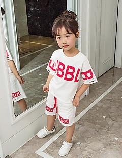 billige Tøjsæt til piger-Pige Bogstaver Kortærmet Tøjsæt