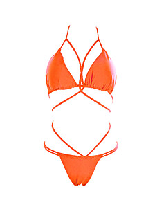 billige Bikinier og damemote 2017-Dame Grime Bikini Ensfarget