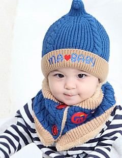 tanie Akcesoria dla dzieci-Komlety salik, czapka i rękawiczki - Dla obu płci - Zima - Inne Niebieski Blushing Pink