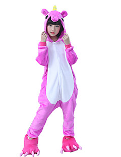 billige Kigurumi-Kigurumi-pysjamas Hest Monster Onesie-pysjamas Kostume Flanell Fleece Rose Cosplay Til Barn Pysjamas med dyremotiv Tegnefilm Halloween