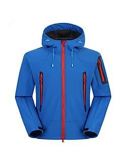 男性用 ハイキング ソフトシェルジャケット アウトドア 耐摩耗性 防水 保温 防風 絶縁 快適 取り外し可能 ジャケット トップス フルオープンファスナー スノースポーツ ダウンヒル スノーボード ランニング