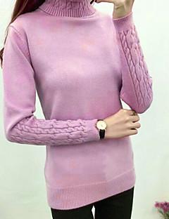 Ženske Jednostavan Ležerno/za svaki dan Kratka Pullover,Jednobojni Dolčevita Dugi rukav Pamuk Zima Jesen strenchy Srednje