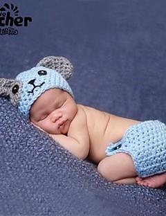 billige Sett med babyklær-Baby Unisex Tøjsæt Daglig Ensfarvet, Bambus Fiber Alle årstider Uden ærmer Simple Blå