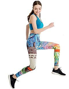 Dame Løbetights Cykling Fitness, Løb & Yoga Bukser Yoga Løbe Pilates Rekreativ Cykling Polyester Stram Blå