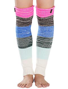 billige Sokker og strømper til damer-Dame Strømper - Fargeblokk Varm