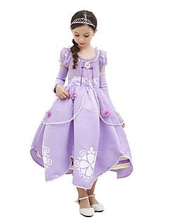 Princeznovské Sofia Jednodílné Šaty Dítě Halloween Narozeniny Festival / Svátek Halloweenské kostýmy Světle fialová Barevné bloky
