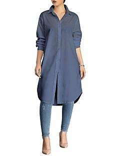 billige Skjorte-Krave Dame - Ensfarvet Gade Arbejde Skjorte