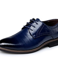 cheap -Men's Leather Spring / Fall Business / Comfort Oxfords Navy Blue / Light Brown / Dark Brown / Party & Evening