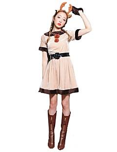 billige julen Kostymer-Julkjole Dame Jul Festival / høytid Halloween-kostymer Rosa Jul Jul