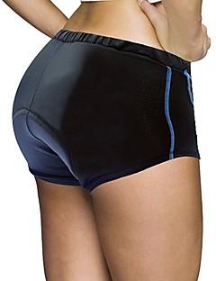 billige Sykkelklær-ILPALADINO Dame Undershorts til sykling Sykkel Fôrede shorts 3D Pute, Fort Tørring, Anatomisk design Ensfarget Spandex, Lycra Blå / Svart