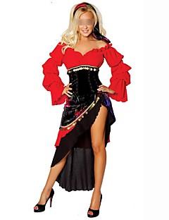 Klassiek en Tradtioneel Lolita Elegant Vrouwelijk Outfits Cosplay Rood Vlinder Lange mouw Mid Dij