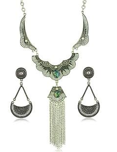 billiga Lolitaaccessoarer-Halsband Söt Lolita Halsband / örhängen Vintage-inspirerad Dam Silver lolita tillbehör Konst Dekor Halsband Örhänge Krom